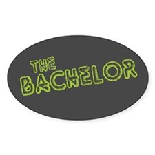 "Green ""The Bachelor&quot Oval Sticker (50 pk)"