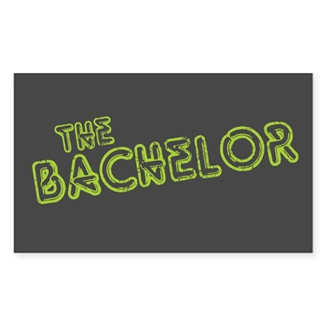 "Green ""The Bachelor&quot Rectangle Sticker"