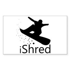 Snow Board Rectangle Decal