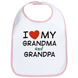I Love My Grandma and Grandpa Bib