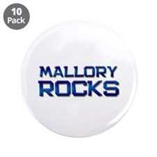 "mallory rocks 3.5"" Button (10 pack)"