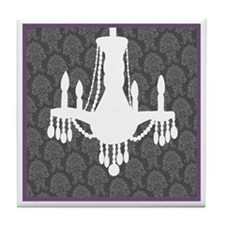 Grey/Purple Border Tile Coaster