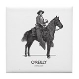 Mounted Cowboy Tile Coaster