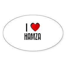 I LOVE HAMZA Oval Decal