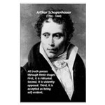 Arthur Schopenhauer Truth Large Poster