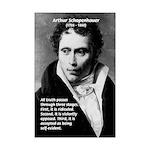 Arthur Schopenhauer Truth Mini Poster Print