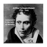 Arthur Schopenhauer Truth Tile Coaster