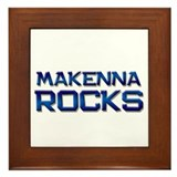makenna rocks Framed Tile