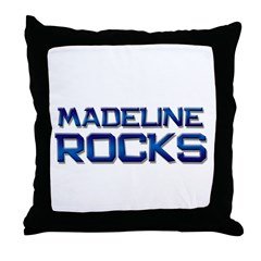 madeline rocks Throw Pillow