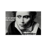 Schopenhauer Philosophy Truth Rectangle Magnet (10