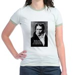 Schopenhauer Philosophy Truth Jr. Ringer T-Shirt