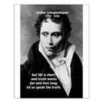Schopenhauer Philosophy Truth Small Poster
