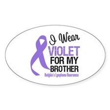 I Wear Violet For Brother Oval Decal