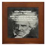Pessimism / Schopenhauer Framed Tile