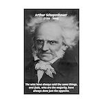 Pessimism / Schopenhauer Mini Poster Print