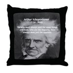 Pessimism / Schopenhauer Throw Pillow
