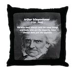 Pessimism / Schopenhauer Throw Pillow