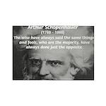 Pessimism / Schopenhauer Rectangle Magnet (10 pack