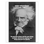 Pessimism / Schopenhauer Small Poster