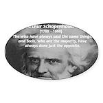 Pessimism / Schopenhauer Oval Sticker