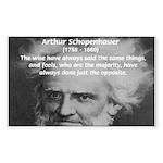 Pessimism / Schopenhauer Rectangle Sticker