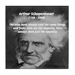 Pessimism / Schopenhauer Tile Coaster