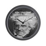 Pessimism / Schopenhauer Wall Clock
