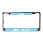 Davis Last Name University License Plate Frame