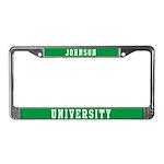 Johnson Last Name University License Plate Frame