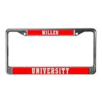 Miller Last Name University License Plate Frame