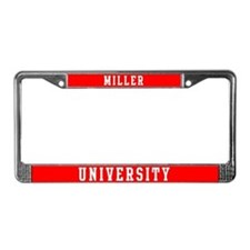 Miller Last Name University License Plate Frame