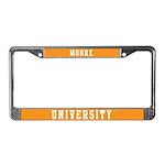Moore Last Name University License Plate Frame