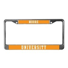 Moore Last Name University License Plate Frame