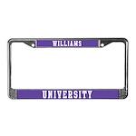 Williams Last Name University License Plate Frame