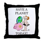 """Save A Planet"" Throw Pillow"