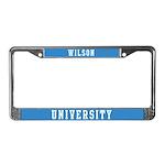 Wilson Last Name University License Plate Frame