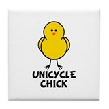 Unicycle Chick Tile Coaster