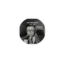 Existentialist Jean-Paul Sartre Mini Button (100 p