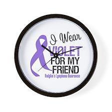 I Wear Violet For My Friend Wall Clock