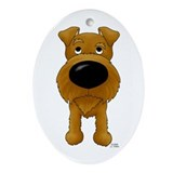 Big Nose Irish Terrier Oval Ornament