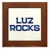 luz rocks Framed Tile