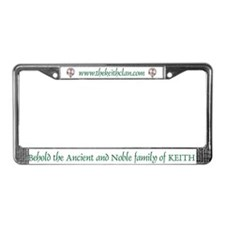Keith License Plate Frame