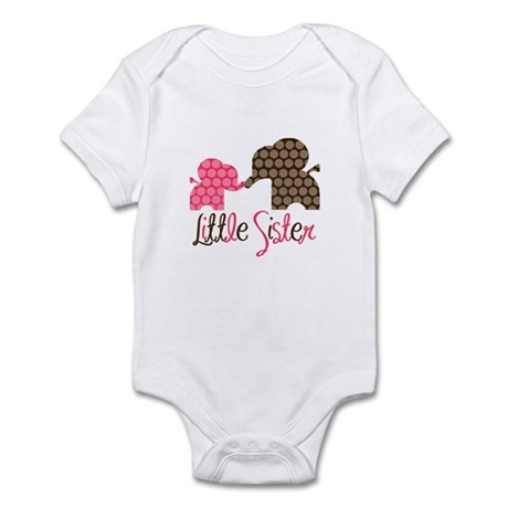 Little Sister Elephant Infant Bodysuit