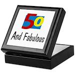 Fifty and Fabulous Keepsake Box