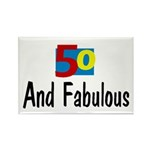Fifty and Fabulous Rectangle Magnet (100 pack)