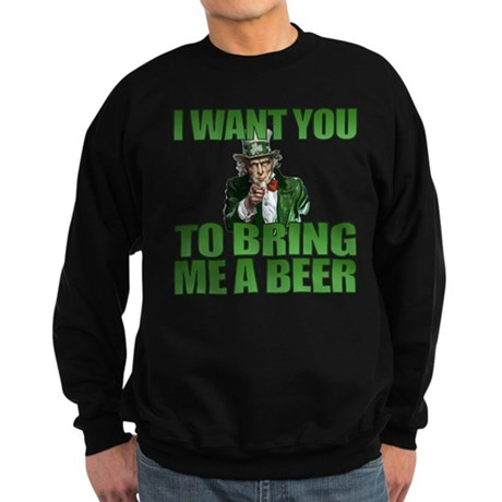 Uncle Sam Bring Me a Beer Sweatshirt (dark)