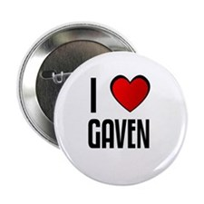 I LOVE GAVEN Button