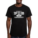 Pig University Men's Fitted T-Shirt (dark)