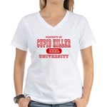 Cupid Killer University Women's V-Neck T-Shirt