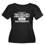 Zoo University Women's Plus Size Scoop Neck Dark T